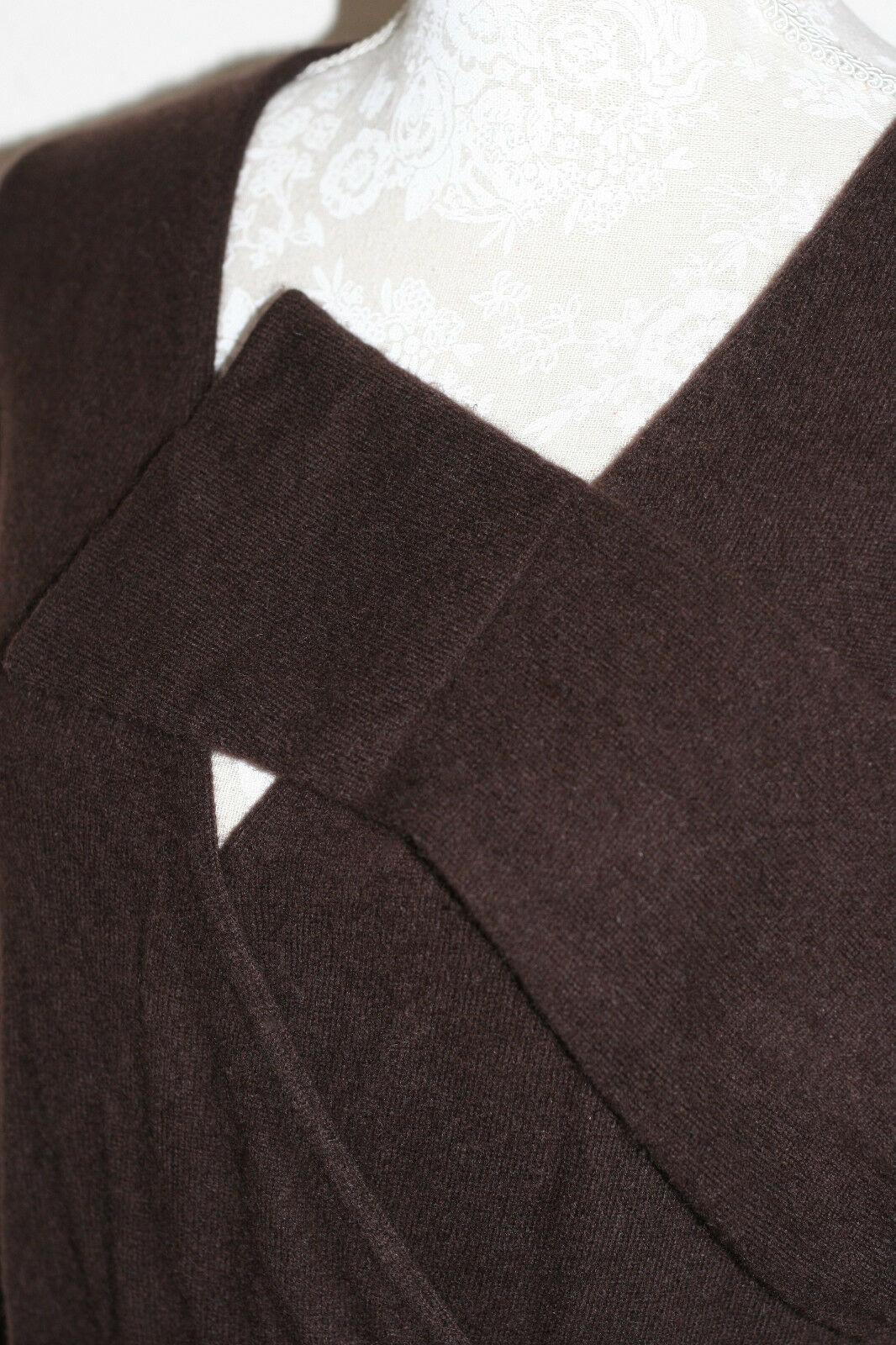 100% Cashmere L 12 14 14 14 Suave Grueso Suave Pure Collection puente de chocolate amargo 7986ee