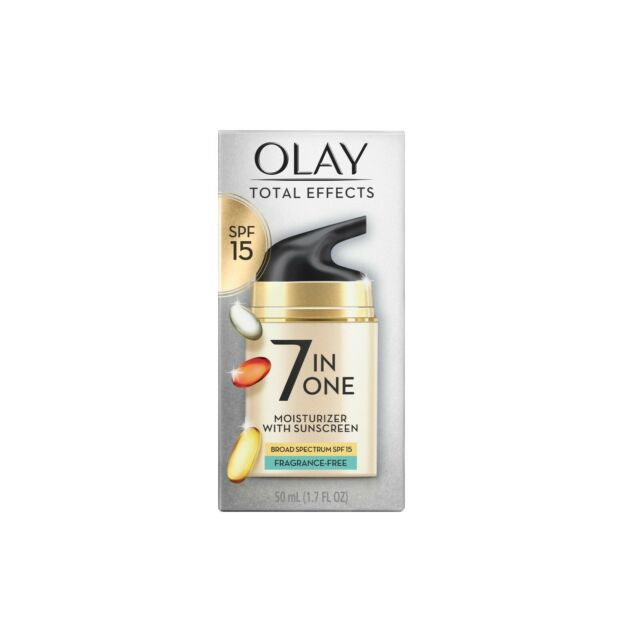 Olay Total Effects 7 In One Skin Moisturizer SPF 15 Fragrance Free 1.7 oz New