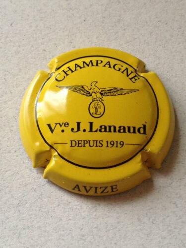 10h. jaune et noir Capsule de Champagne LANAUD J.