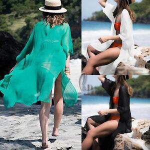 AU SELLER Oversize Chiffon Kaftan Open Top Shirt Beach Kimono Cover UP sw074