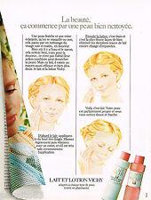 PUBLICITE ADVERTISING 065  1978  VICHY  cosmétiques  lait & lotion