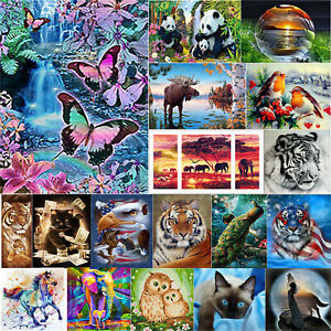 5D-DIY-Full-Drill-Diamond-Painting-Animals-Cat-Cross-Stitch-Craft-Kit-Home-Decor