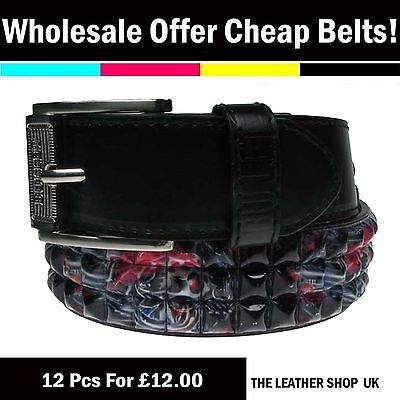 Bello Clearance 12 Pcs Wholesale Mix Assorted Sizes Fashion Jeans Belt Uk Seller Pf12