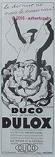 PUBLICITE DUCO DULOX PEINTURE SIGNE AN. GIRARD DE 1933 FRENCH AD PUB ART DECO