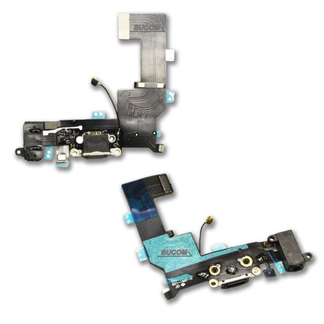 iPhone 5s Carga Audio Enchufe de puerto PLATINO Dock Charge Antena micrófono
