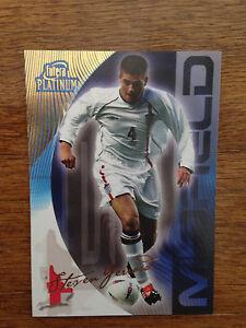 2004 Futera World Football Soccer Card England STEVEN GERRARD Mint