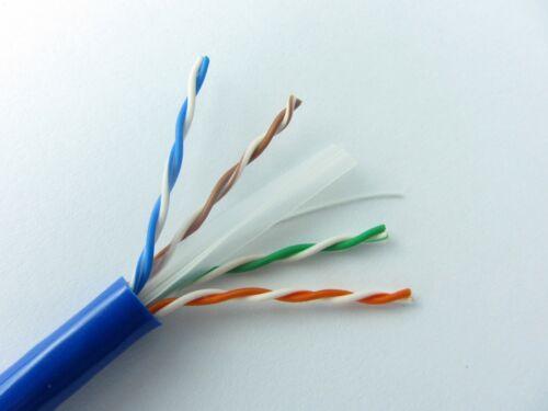 BLUE 1000FT Cat6 RISER CMR Ethernet Cable UTP Solid Copper Riser CMR 23AWG Cat6