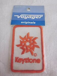 Vintage-Embroidered-034-Keystone-034-Patch-Voyager-Brand-NOS-Made-in-USA