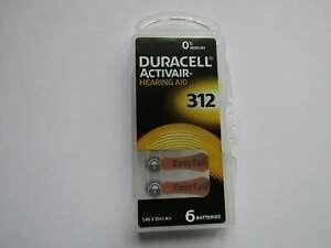 120x 312 Hörgerätebatterien Zink-Luft 180mAh Duracell