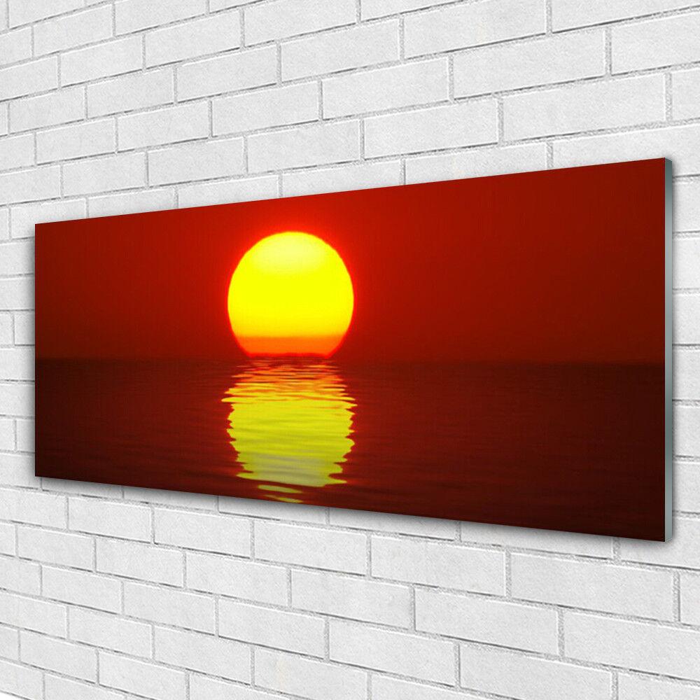 Verre Imprimer Wall Art Image 125x50 Photo Coucher de soleil mer paysage