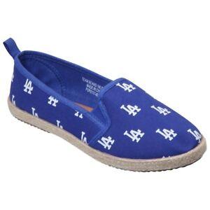 Los-Angeles-Dodgers-Logo-MLB-Women-039-s-Canvas-Espadrille-Slip-On-Flat-Shoes