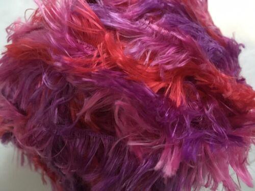 Red Pink Purple Feather Boa Eyelash Yarn Crystal Palace Splash #7234 Carnival