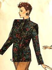 Vogue 9482 Pattern 6-8-10 Vintage '80's Jacket Mandarin Collar Pants Skirt Uncut