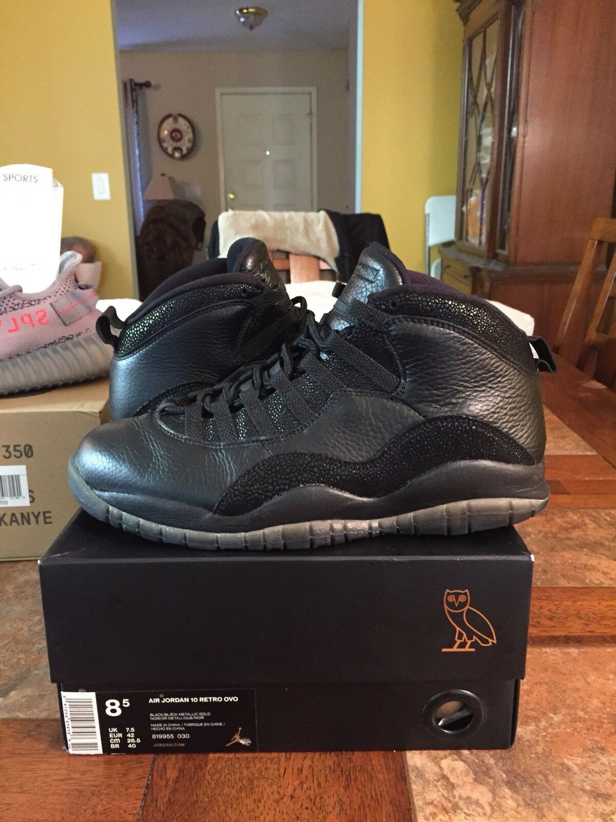 2011 Air Jordan 10 Retro OVO Black Sz. 8.5  w/ Original Box.