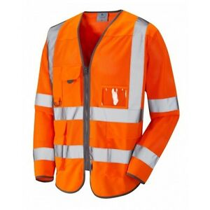 Leo Workwear Lynton Class 2 Hi Vis Yellow//Red Superior Waistcoat
