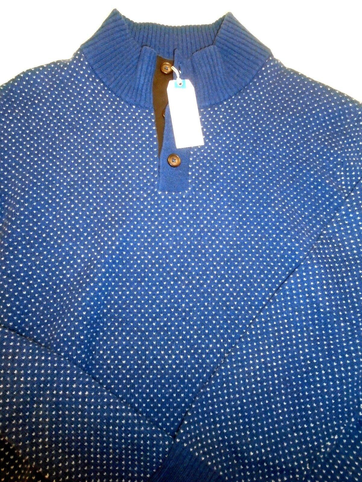 Southern Tide Merino Wool Edgewood Birdseye Pattern Sweater NWT XL 195