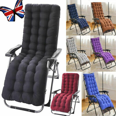 New Cotton Soft Seat Replacement Cushion Pad Garden Sun Lounger Recliner Chair** | eBay