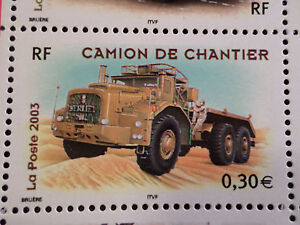 FRANCE-2003-timbre-3615-VOITURES-VEHICULE-CAMION-neuf-CARS-VF-MNH