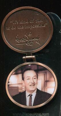 "Disney Pin 8934 Walt Disney Scroll Quote #4 ""When You're Curious"""