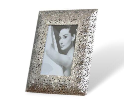 Cadre photo métal argent oriental antique Cadre Cadre Photo Stand Cadre NEUF