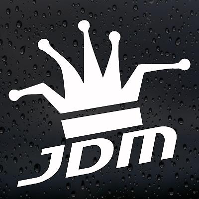 2X SHIT BOX sticker funny vinyl decal JDM white