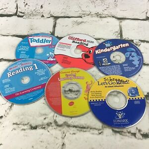 Childrens-Educational-Learning-PC-Games-CD-ROMs-Software-Lot-Of-6-Discs-Loose