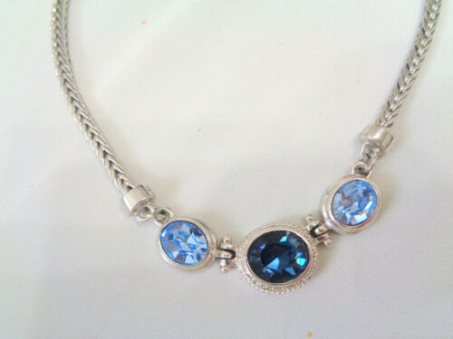 DESIGNER SILVER BRAIDED CHAIN NECKLACE W, FACETED