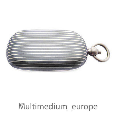 Tula Silber Anhänger Lutz und Weiß Münzspender niello silver pendant money box