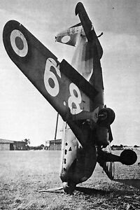 WW2 - Aviation - Morane Saulnier 406 C après une sortie de terrain