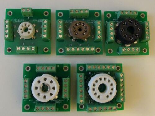 prototype tube sockets for DIY experimenting Set of 6 breadboard