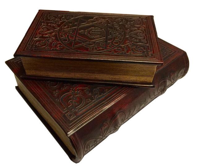 Star of David Book Box Set of 2 Judaica Keepsake Box Leather over Wood