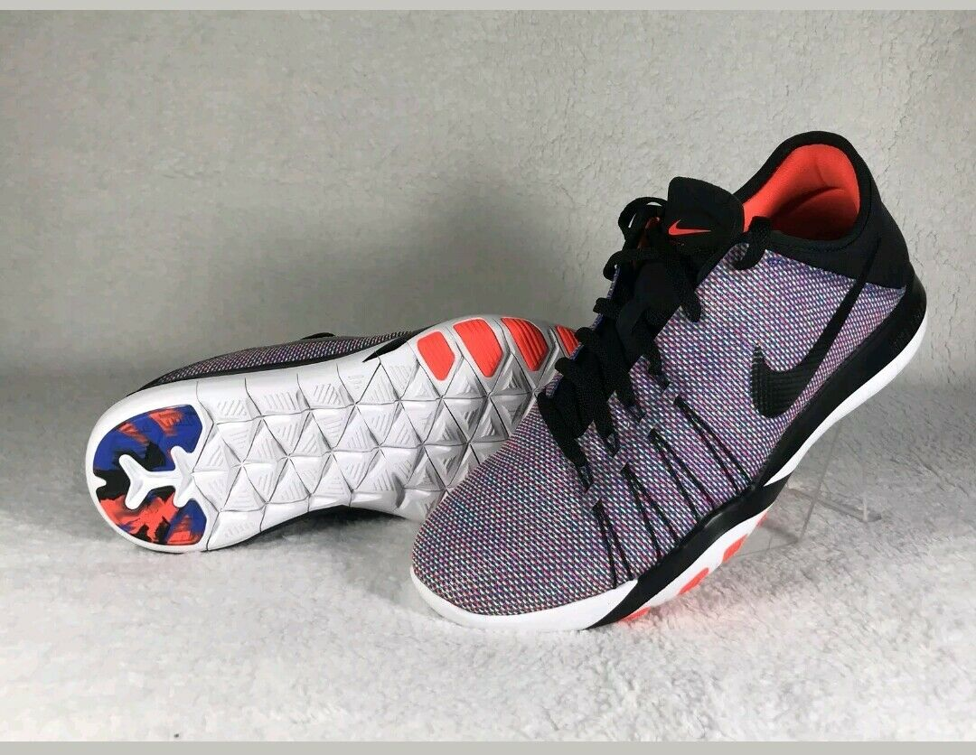 Nike Free TR 6 PRT 833424-006 Athletic Running Shoes Black Purple Women Sz 9.5