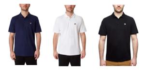 FILA-Mens-Pima-Cotton-Short-Sleeve-Logo-Polo-Golf-Shirt-Black-White-Navy-NEW-NWT