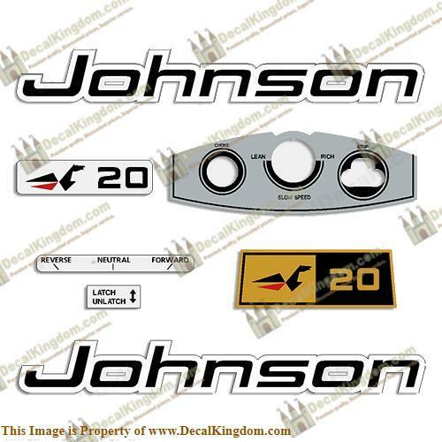 Johnson 1969 Outboard Decal Kit (Multiple Sizes Available) 3M Marine Grade