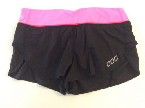 Lorna Jane Running Shorts - Black and Pink with Re