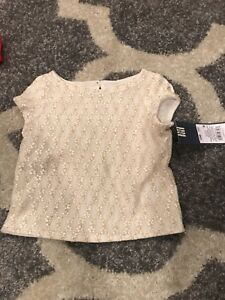 NWT-Toddler-Girls-039-Pretty-Lace-Top-Genuine-Kids-From-OshKosh-12-Months