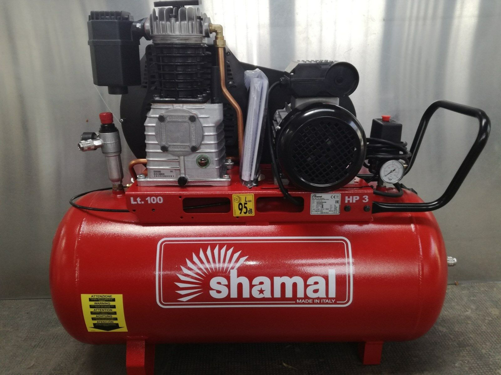 PROFESSIONAL COMPRESSOR 3 HP 100 LITERS