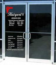 Custom Business Store Hours Amp Custom Lettering Sign Vinyl Sticker Window Door