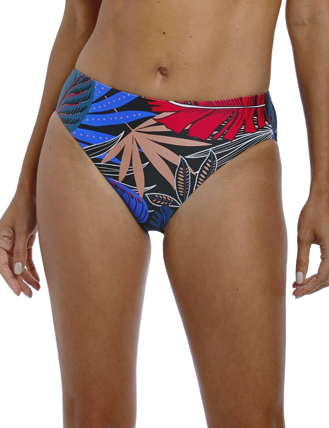 Fantasie Monte Cristi Mid Rise Bikini Brief Bottoms 6625 Fully Lined Multi