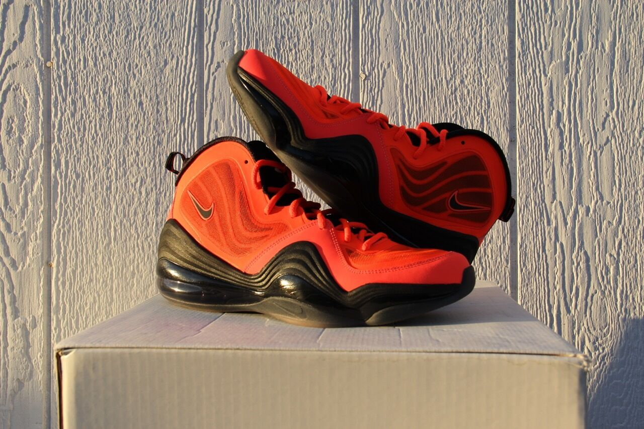 NIKE AIR PENNY V TOTAL CRIMSON ORANGE-BLACK U.S. MEN'S - SZ 10.5 - MEN'S [537331-800] 6d2189