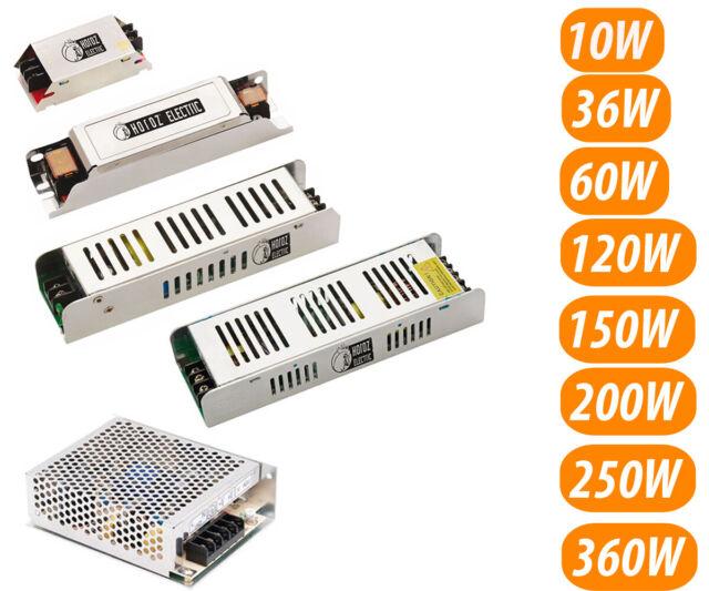 Dc 12V 10W-360W LED Transformador Pieza de Red Adaptador Rayas Strip