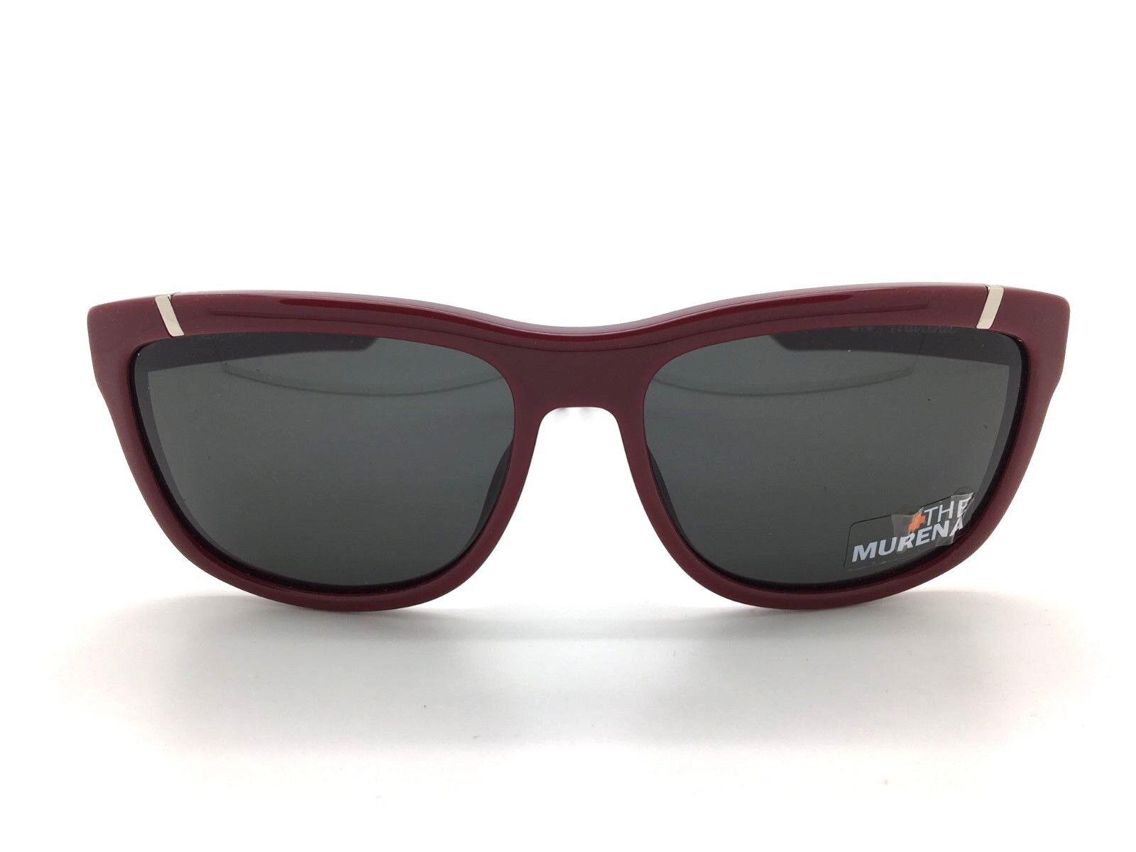 SPY+ Optic Murena Sunglasses 671012154129 Burgundy Frame with Grey Lens