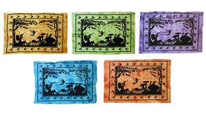 FANTASY-Feen-Elfen-Mushroom-110x75-cm-Batiktuch-Decke-Wandbehang-Dekotuch-Fairy