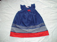 Gymboree Navy Red Fourth Of July Dress 18-24 Months