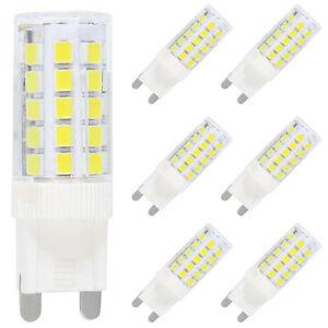 Details zu 6X G9 LED Lampe Leuchtmittel,5W Ersatz für 40W Halogen Lampen,Kaltweiß 6000K