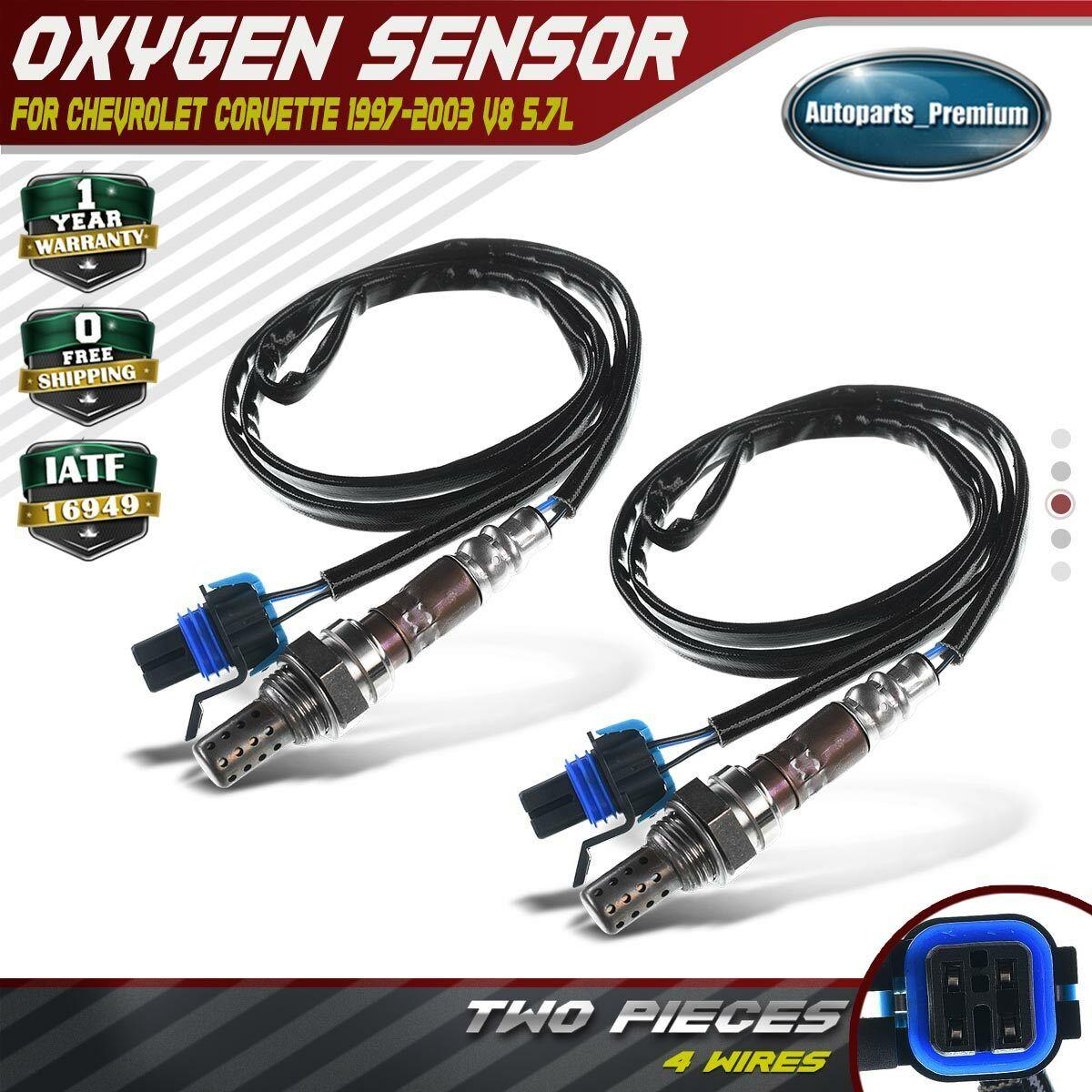 4x 02 O2 Oxygen Sensors for Chevrolet Corvette 1997-2003 V8 5.7L Up /& Downstream