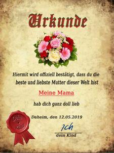 Dekofliese-Wandbild-Bildfliese-Urkunde-Muttertag-080DP-Geschenkidee-Fliese