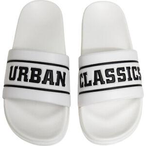 Urban Classics UC Logo Slides Badeschuhe Badelatschen Slippers Schlappen Sandals