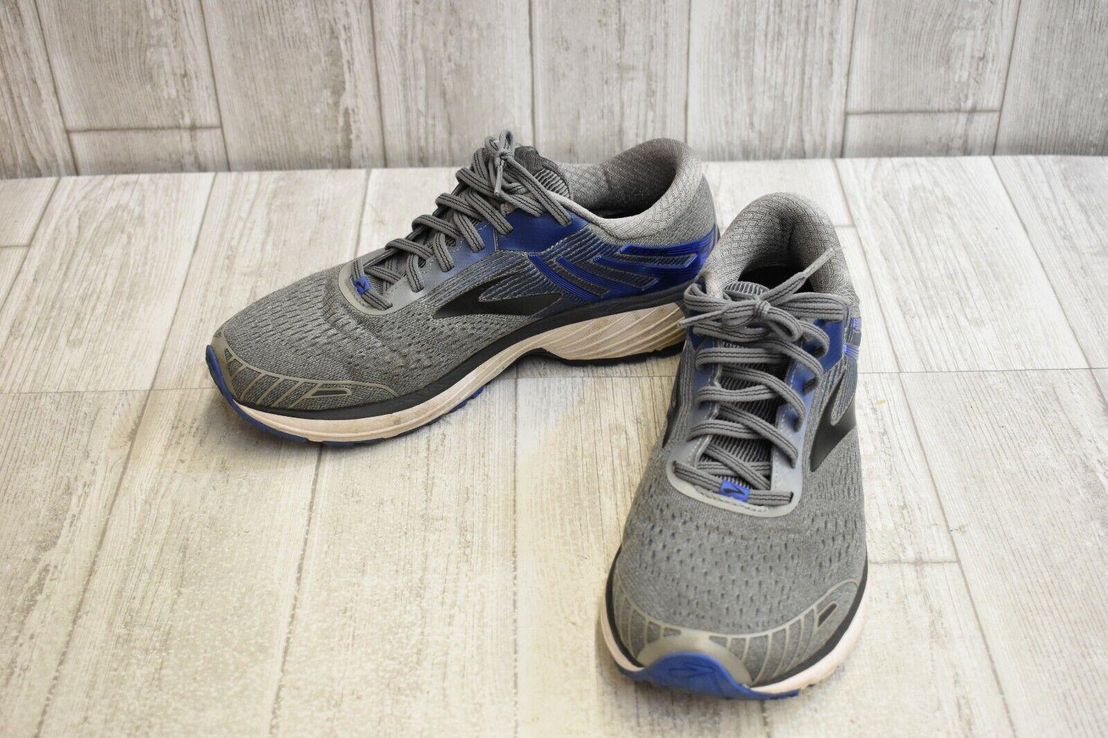 Brooks Adrenaline GTS 18-calzado para correr para hombres (2E), Azul gris
