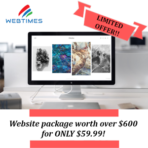 WebTimes Website Special offer worth over $600 for ONLY $59.99!